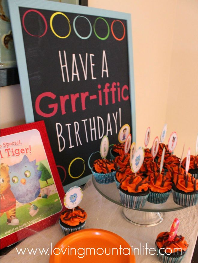 Have a Grrrriffic Birthday Sign for a Daniel Tiger from Loving Mountain Life